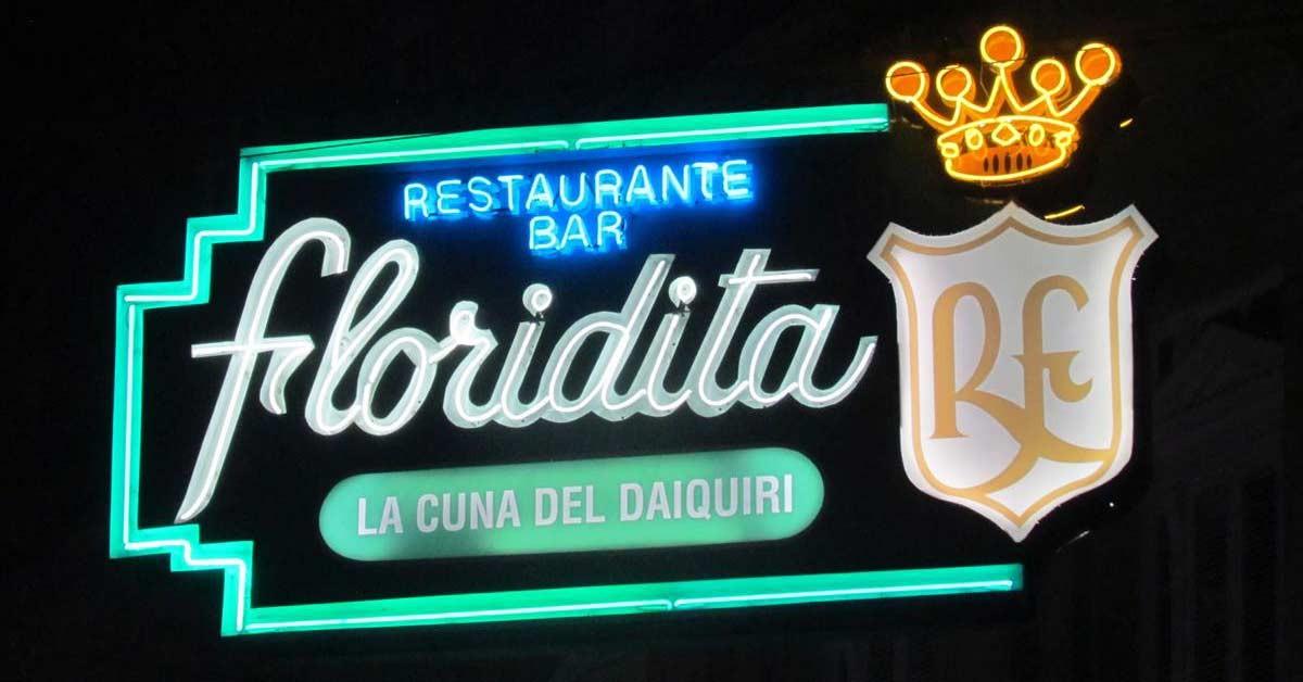 Cuba Parfüm Royal Havannában a FLORIDITA bár Daiquirivel